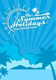 The best summer and the best summer holidays. Banner the inscription on the background of summer shades with sunbeams and lens flare and glow Vector Illustration