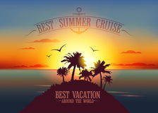 Best summer cruise design Royalty Free Stock Image