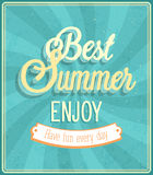 Best Summer Enjoy typographic design. Stock Photos