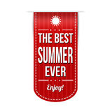 The best summer ever banner design Royalty Free Stock Photography