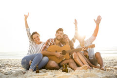 The best summer is with friends Stock Photos