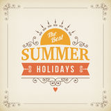Best Summer holidays curl poster Stock Image