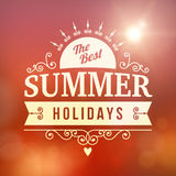 Best Summer holidays curl poster Royalty Free Stock Photo