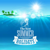Best summer holidays poster for travel design Royalty Free Stock Photos