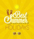 Best Summer Holidays typographic design. Stock Photos