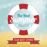 Best summer label Stock Image
