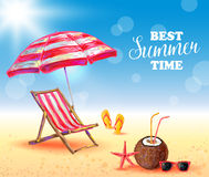 Best Summer Time Poster Royalty Free Stock Image