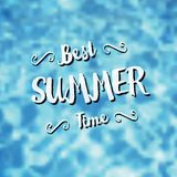 Best summer time vector illustration. Royalty Free Stock Image