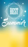 The best summer. White lettering on a background of lines and gradient Stock Illustration