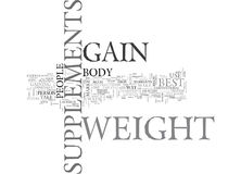 Best Supplements To Gain Weight Word Cloud Royalty Free Stock Photo