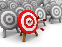 Best target. 3d illustration of best target choice concept Stock Images