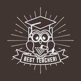 best teacher design royalty free illustration