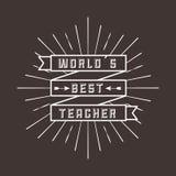 Best teacher  design. Illustration eps10 graphic Royalty Free Stock Photography