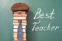 Best teacher funny concept Royalty Free Stock Images