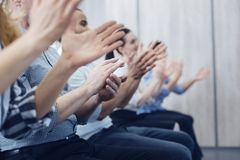 Close up of human clapping hands Royalty Free Stock Photography