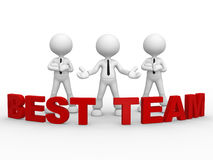 Best team. 3d people - man, person and text best - team Royalty Free Stock Photo