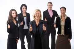 Best team in town. Business woman is presenting her successful business team Stock Photos