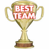 Best Team Trophy Award Prize Recognition Royalty Free Stock Images