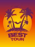 Best tour design template. Royalty Free Stock Photo