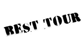 Best Tour rubber stamp. Grunge design with dust scratches. Effects can be easily removed for a clean, crisp look. Color is easily changed Royalty Free Stock Photo