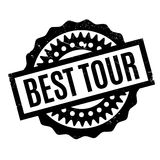 Best Tour rubber stamp. Grunge design with dust scratches. Effects can be easily removed for a clean, crisp look. Color is easily changed Stock Images