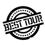Best Tour rubber stamp. Grunge design with dust scratches. Effects can be easily removed for a clean, crisp look. Color is easily changed Stock Photography