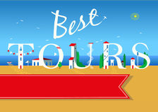 Best tours. Travel card. Stock Images