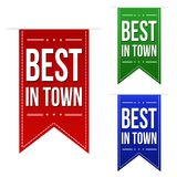 Best in town banner design set Royalty Free Stock Image