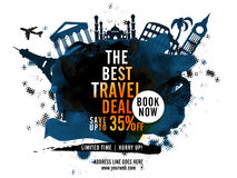 Best Travel Deal Poster, Banner or Flyer design. Royalty Free Stock Photography