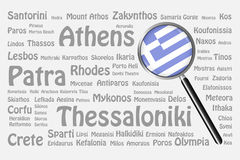 The best travel destinations of Greece Concept Stock Photos