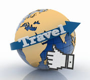 Best travel globe and vacation concept Royalty Free Stock Image