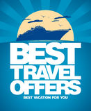 Best travel offers design template. Stock Image