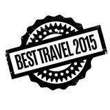 Best Travel 2015 rubber stamp Royalty Free Stock Image