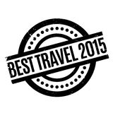 Best Travel 2015 rubber stamp. Grunge design with dust scratches. Effects can be easily removed for a clean, crisp look. Color is easily changed royalty free illustration