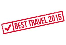 Best Travel 2015 rubber stamp Royalty Free Stock Photography