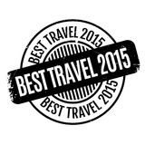 Best Travel 2015 rubber stamp. Grunge design with dust scratches. Effects can be easily removed for a clean, crisp look. Color is easily changed vector illustration