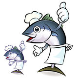 The Best Tuna Chef, Tuna Character Royalty Free Stock Image