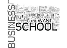 Best Undergraduate Business Schools Word Cloud Royalty Free Stock Photo