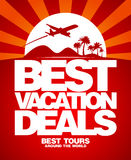 Best vacation deals design template. Stock Photos