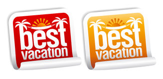 Best vacation labels. Stock Images