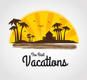 The best vacations. Over gray background vector illustration Stock Images