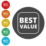 Best Value Button, Best value sign. Simple  icons set Stock Photo