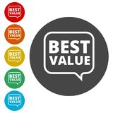 Best Value Button, Best value sign. Simple  icons set Royalty Free Stock Image