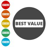 Best Value Button, Best value sign. Simple vector icons set Stock Photo