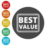 Best Value Button, Best value sign. Simple vector icons set Royalty Free Stock Images