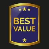 Best value label. Best offer label on black background, vector illustration Stock Photo