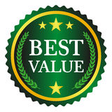 Best value label. On white background, vector illustration Royalty Free Stock Images