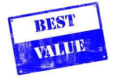 Best Value, plate, illustrated with grunge textures Royalty Free Stock Image