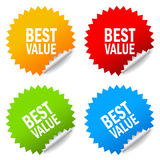 Best value sticker Royalty Free Stock Images