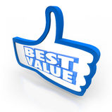 Best Value Thumb's Up Top Rating Score Quality Stock Photography